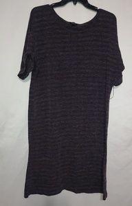 Forever Purple Stripe Knit Dress Sz L